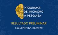 BannerNotícia_Site PRPI_ResultadoPreliminar_Edital PRPI_02_2020