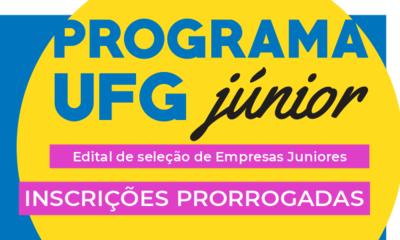 Edital UFG Junior Inscrições prorrogadas