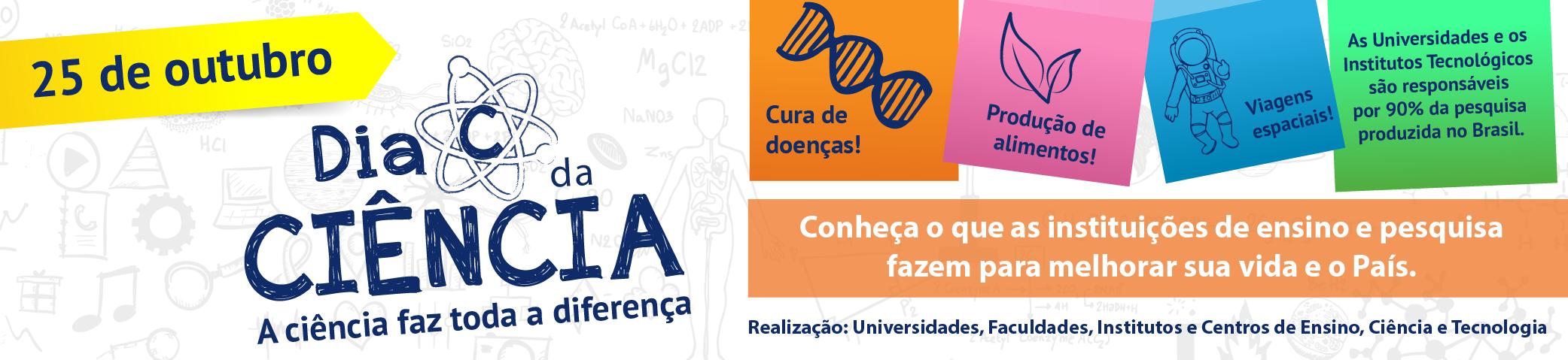 Banner Dia da Ciência