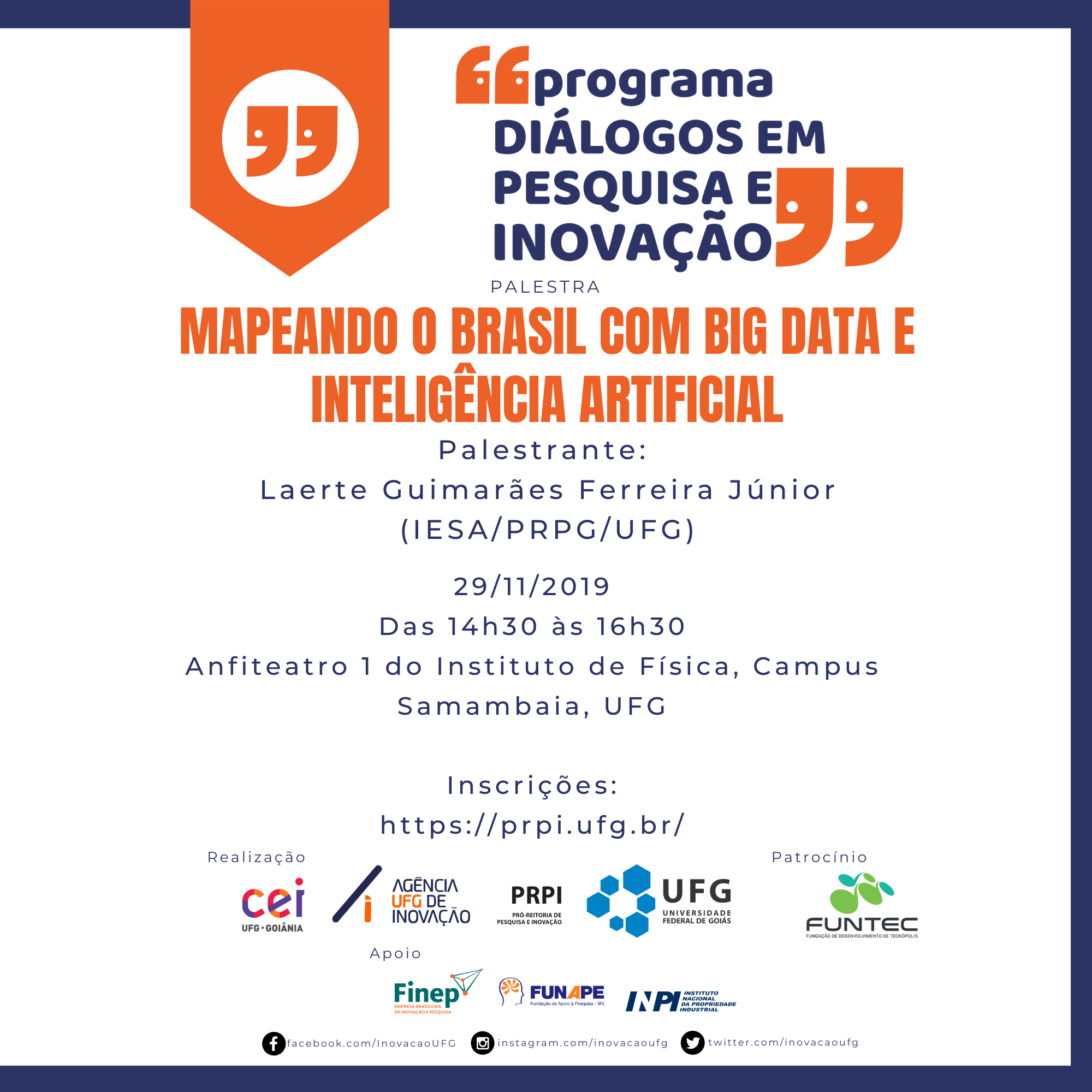 Cartaz Mapeando o Brasil com Big Data e Inteligência Artificial