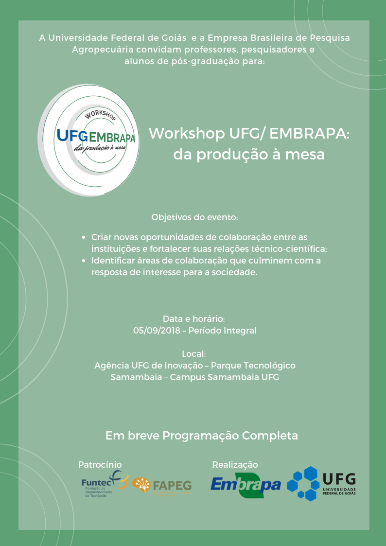 Cartaz Workshop Embrapa