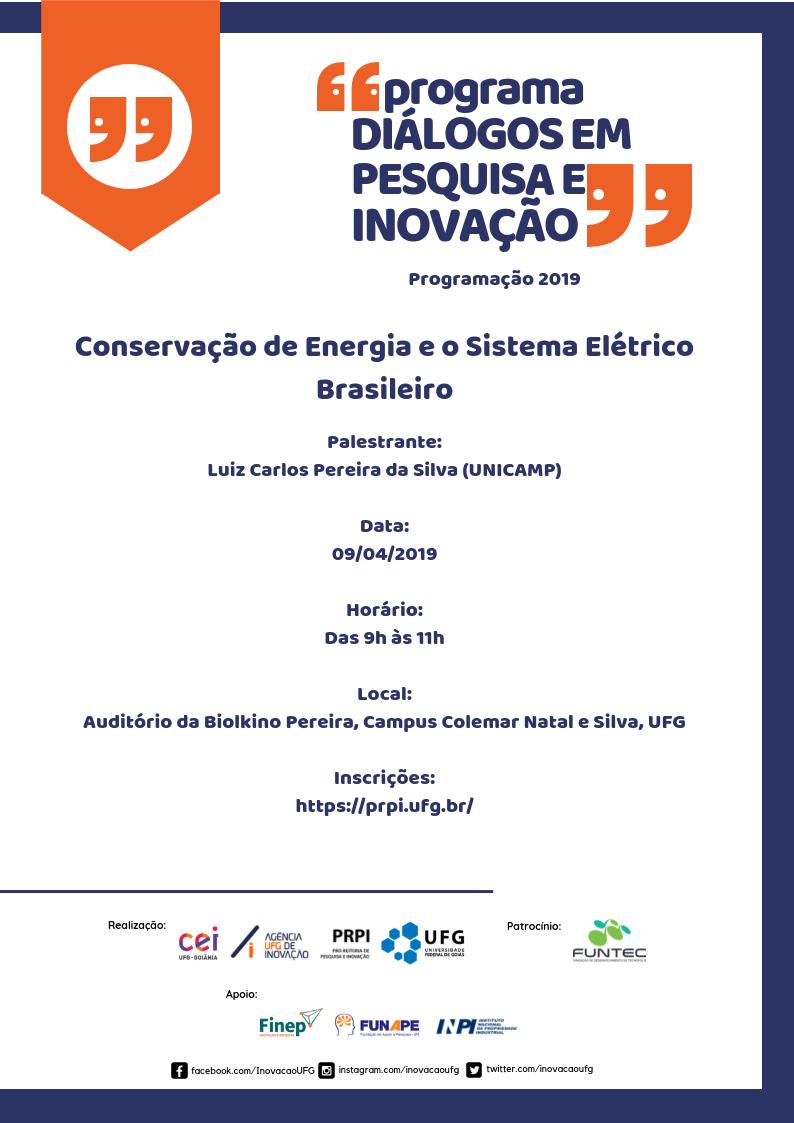 Cartaz Conversação  de Energia e o Sistema Elétrico Brasileiro