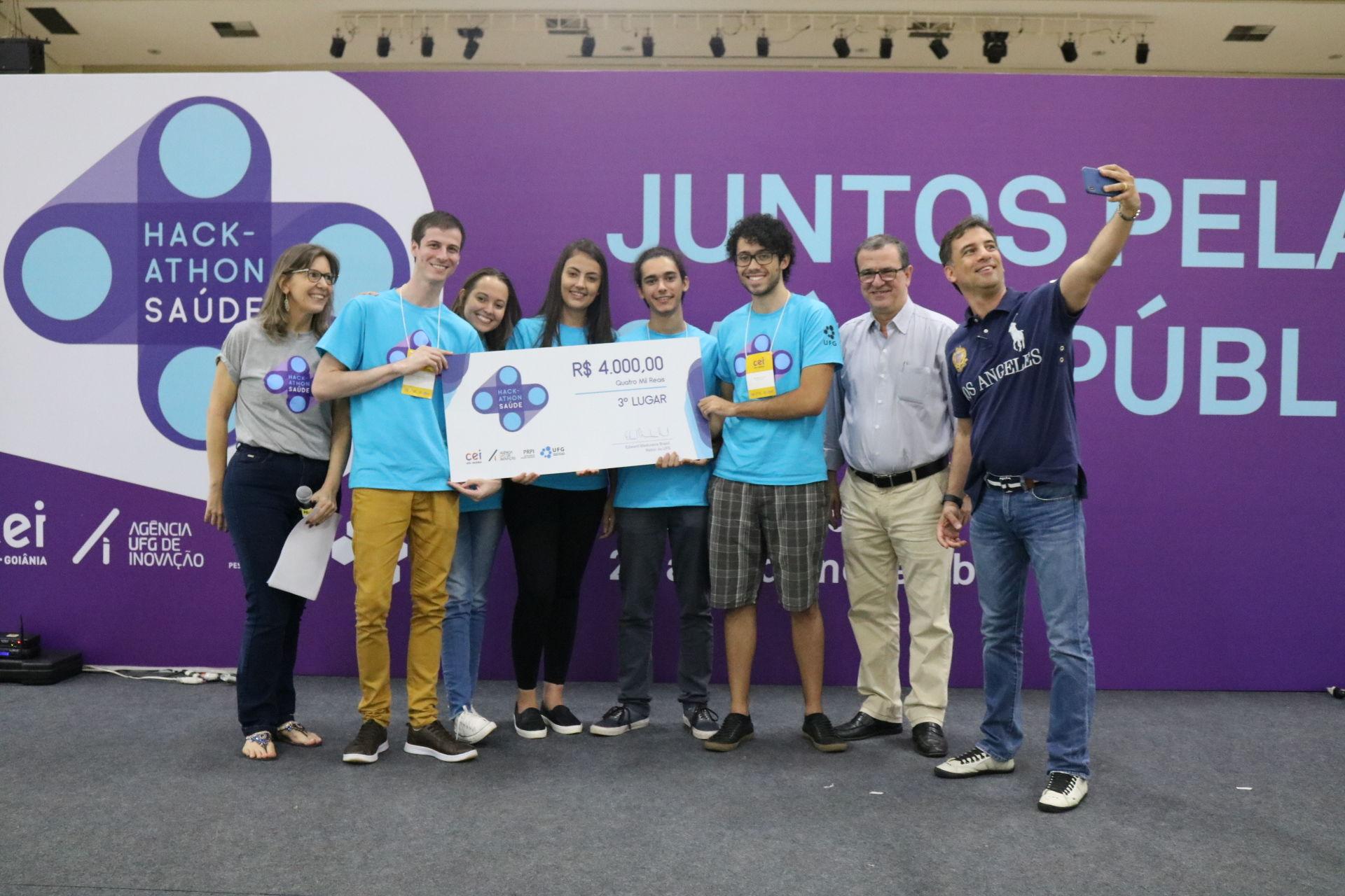 Equipe Sang.in - terceiro lugar 1º Hackathon em Saúde UFG