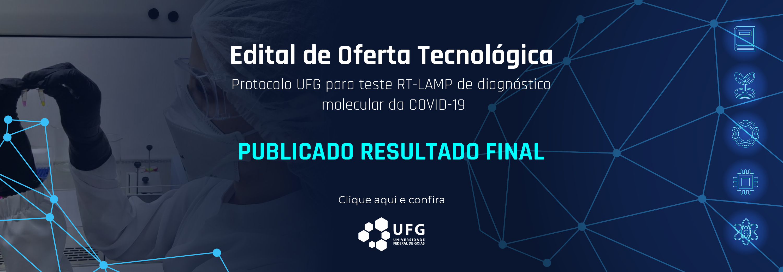 Publicado resultado final do edital UFG RT-LAMP
