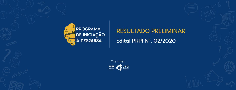 FullBanner_PRPI_ResultadoPreliminar_Edital PRPI_02_2020