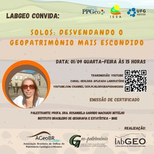 Dia 01-09-2021 será a transmissão desta palestra no canal do LabGeo, no YouTube : https://www.youtube.com/watch?v=M-vd5nqQuvk