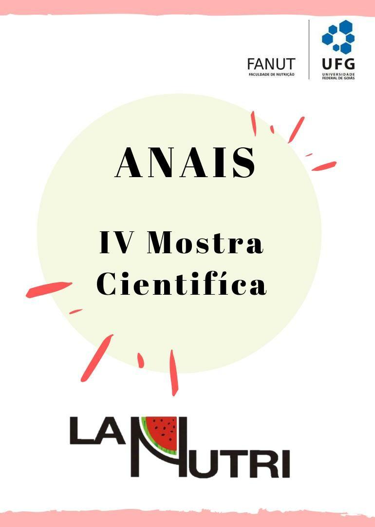 capa ANAIS IV MOSTRA CIENTÍFICA LIGA ACADÊMICA DE NUTRIÇÃO UFG