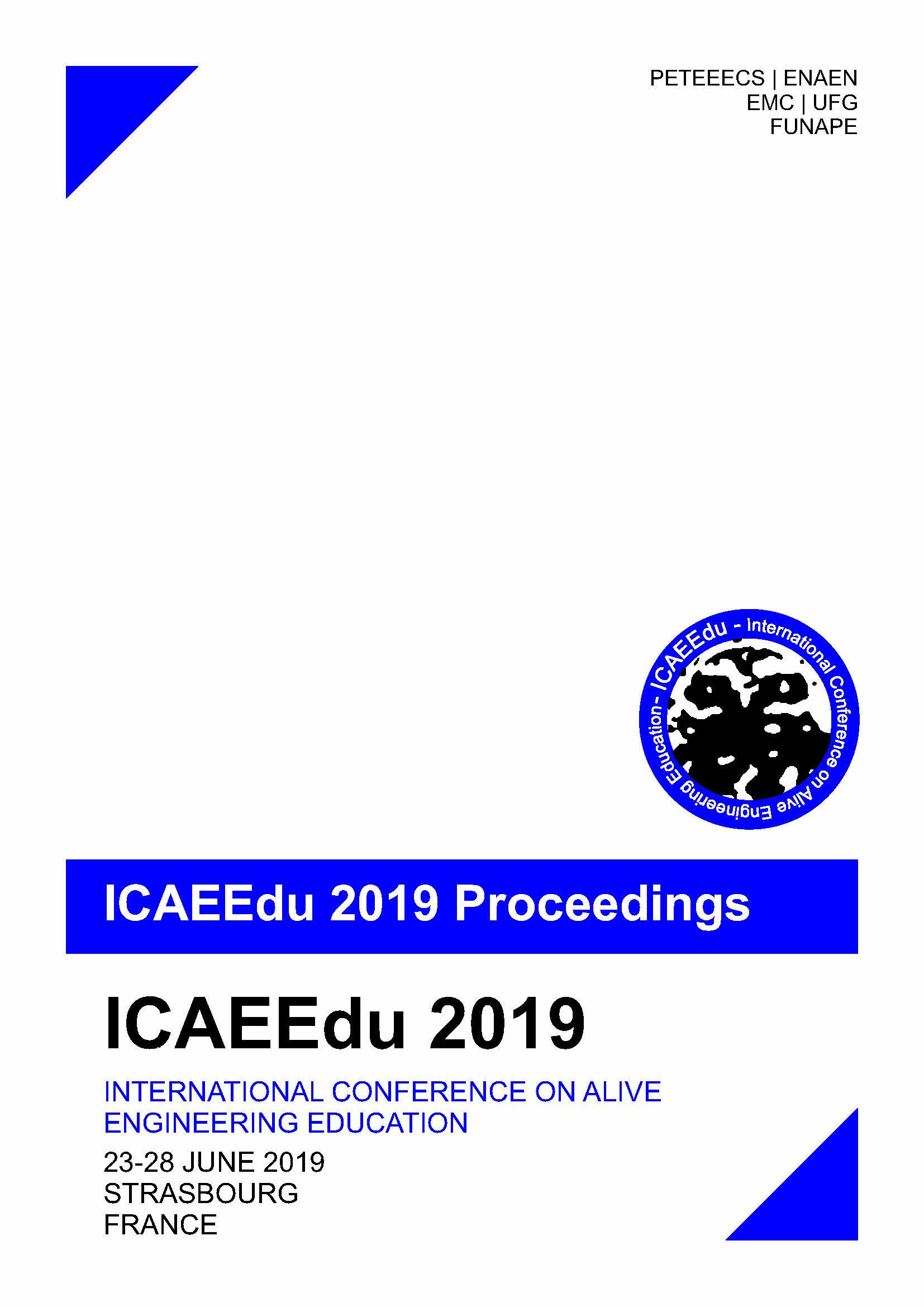 capa ICAEEdu 2019 Proceedings
