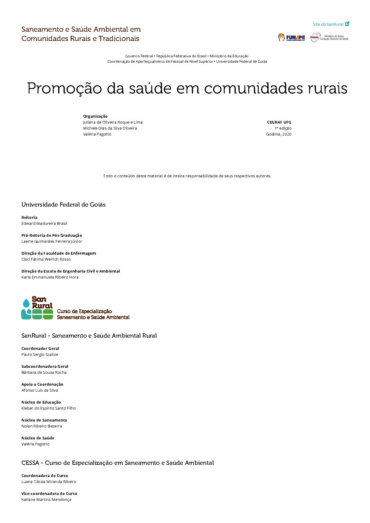 Promoção da saúde em comunidades rurais