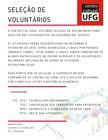 Seleção Voluntários Centro Cultural UFG noticia