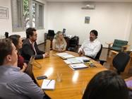 Representantes das Ipes-GO em reunião com o secretário de Cultura, Adriano Baldy