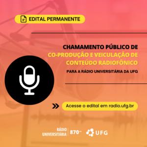 Edital Rádio Universitária