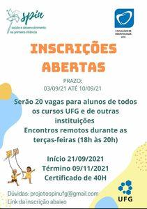 Projeto SPIN (Saúde na Primeira Infância) - 21/09 a 09/11/2021
