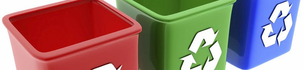 Lixeiras de reciclagem.