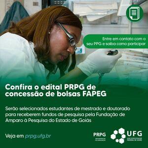 PPGs iniciam seleção interna para bolsas FAPEG