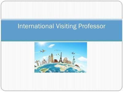 International Visiting Professor