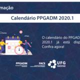 Calendário PPGADM 2020.1