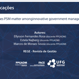 Does PSM matter among innovative government managers?