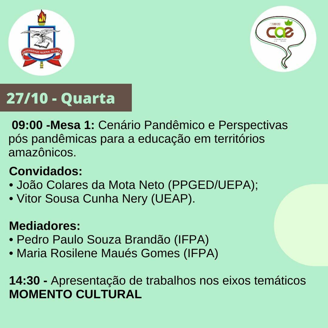 IV Seminário Conversas com CAE - ICEDUFPA 06