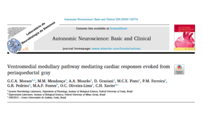 Artigo Publicado pelo MSC. Gean Moraes na revista internacional Autonomic Neuroscience