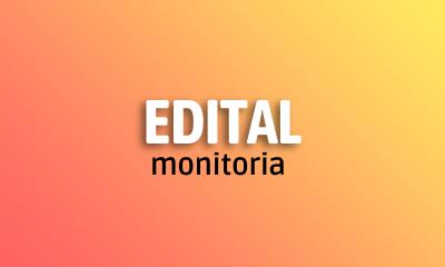 Edital monitoria 2021