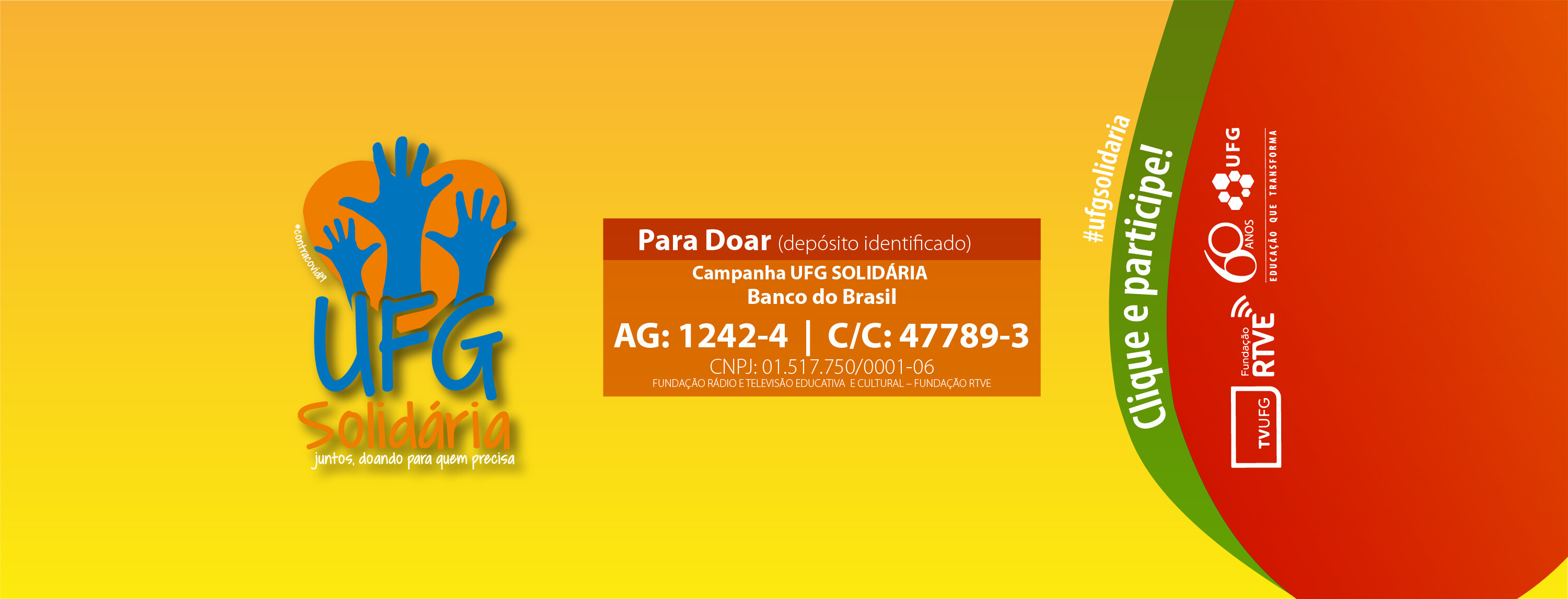 UFG Solidária Banner
