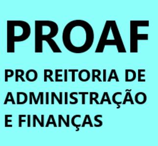 Logo do site da PROAF