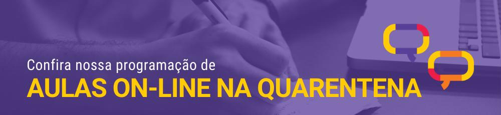Banner - Aulas ONLINE na quarentena2