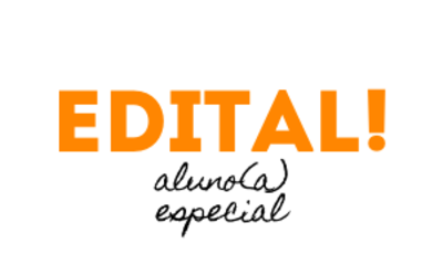 Edital aluno especial 2020/2