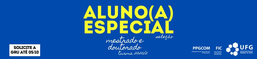 Aluno especial 2020/2