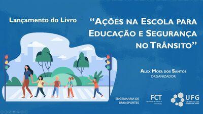 Arte do Livro Ações na Escola para Educação e Segurança no Trânsito