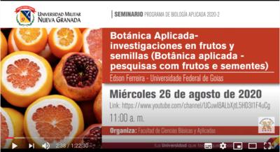 Extensão - Palestra de Botánica Aplicada - frutos y semillas