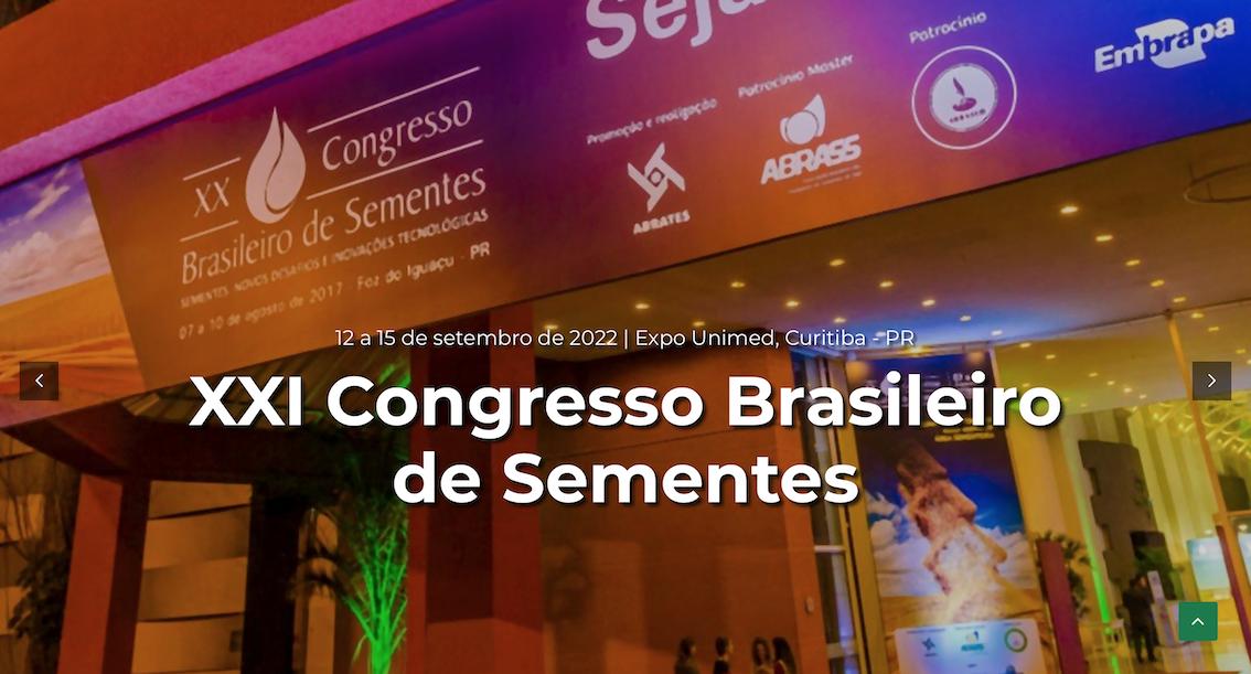 Evento - Congresso Brasileiro de Sementes - 2021