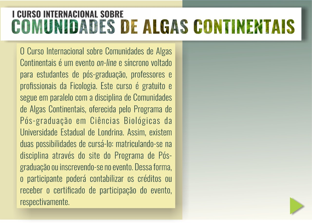 Extensao - Curso Internacional Algas 2020 2
