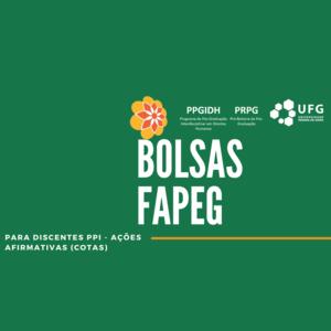 Bolsas Fapeg Cotas