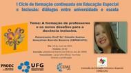 Ciclo Formacao Educacao Incl usiva e Especial 1- CEPAE