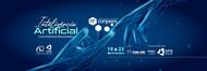 Fundo azul com desenho de duas mãos se aproximando com dedos indicadores.  Iteligência Artificial fronteira da ciência brasileria decimo sétimo congresso de pesquisa, ensino e extensão conpeex 19 a 23 de outubro Apoio FUNAPE Fundação de apoio a pesquisa - UFG Coordenação/Organização PROEC Pró-reitoria de extensão e cultura UFG  Universidade Federal de Goiás