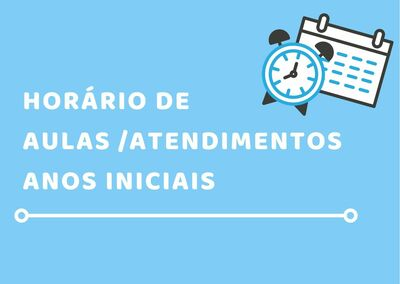 Banner HORÁRIO de AULAS e ATENDIMENTOS