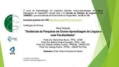 Convite II Jornada de Estudos de Línguas-2021