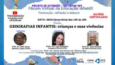 Fórum Virtual da Educação Infantil: formação, reflexão e debate