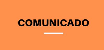 Aviso de comunicado