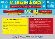 Programação - 3º Seminário Comunicação Pública e Cidadania