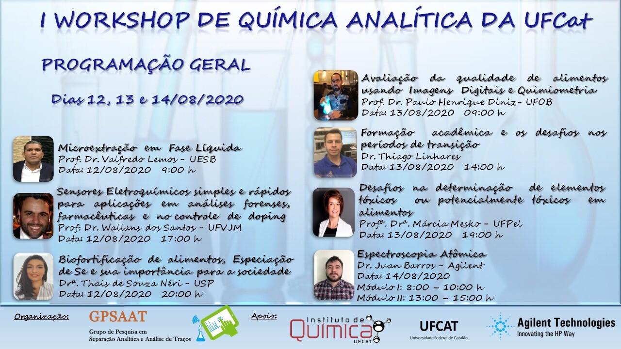 Programação I Workshop de Química Analítica da UFCat