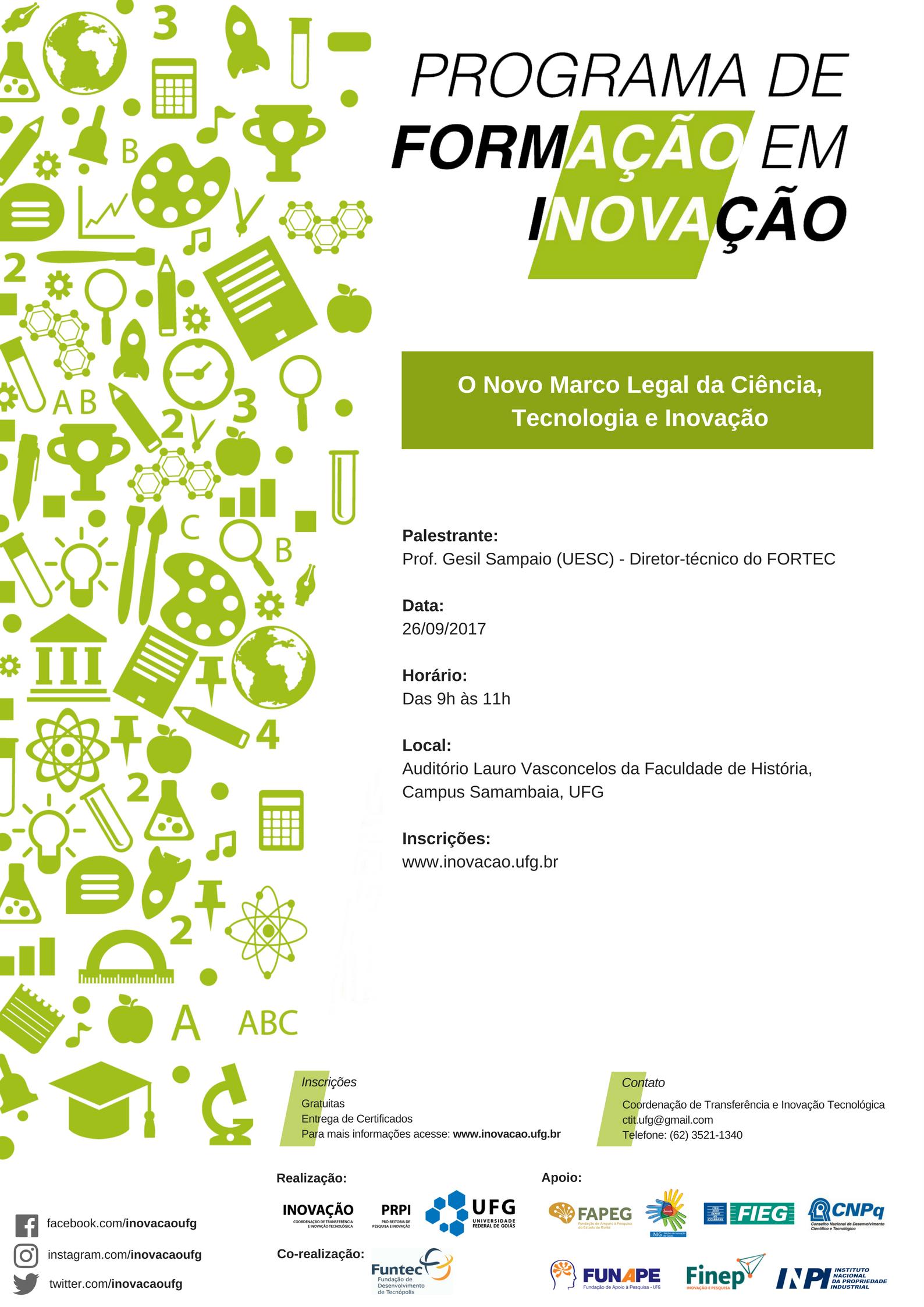 Cartaz - O Novo Marco Legal da Ciência, Tecnologia e Inovação