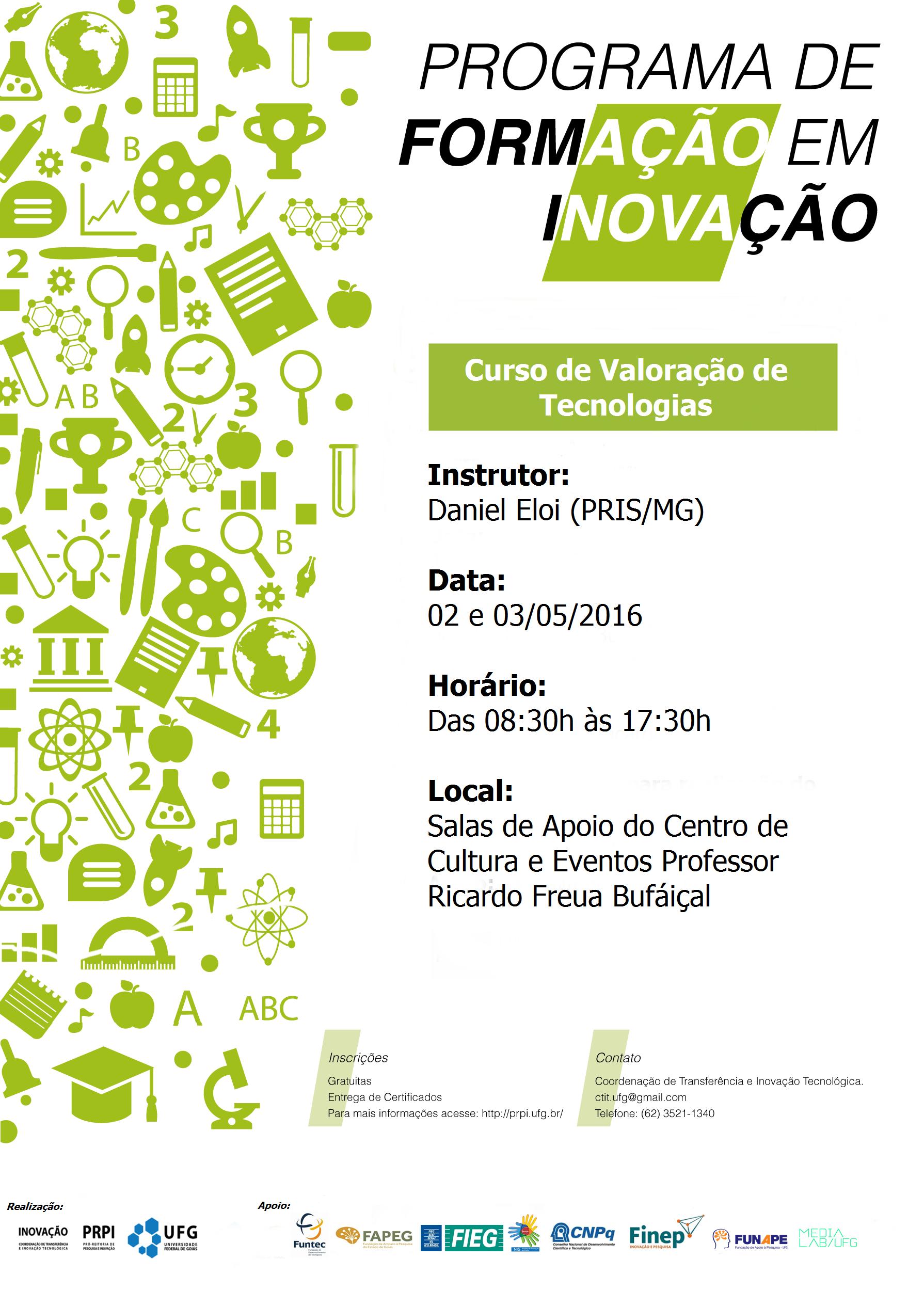 Cartaz Curso de valoração de tecnologias