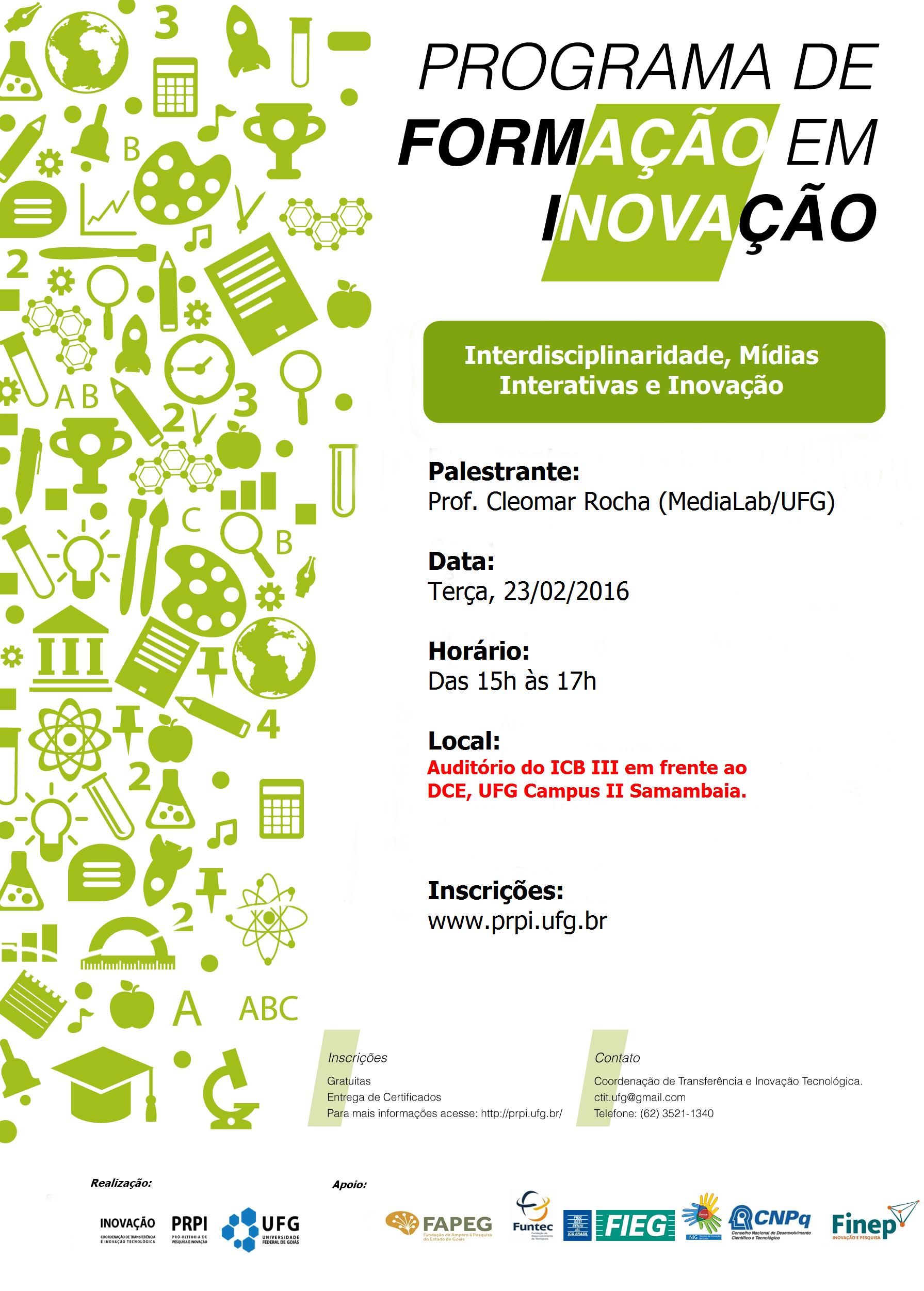 Palestra Programa de Formação em Inovação