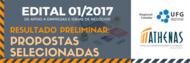 EDITAL 1-2017 - Resultado Preliminar - Propostas Selecionadas