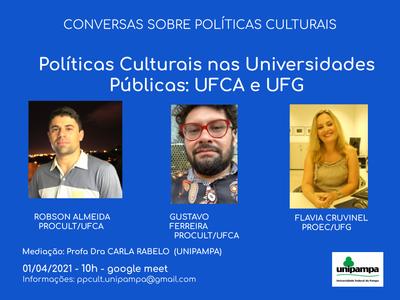 Políticas Culturais nas Universidade Públicas_UFCA E UFG