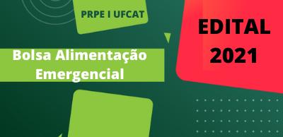 CAPA EDITAL ALIMENTAÇÃO EMERGENCIAL 2021 2