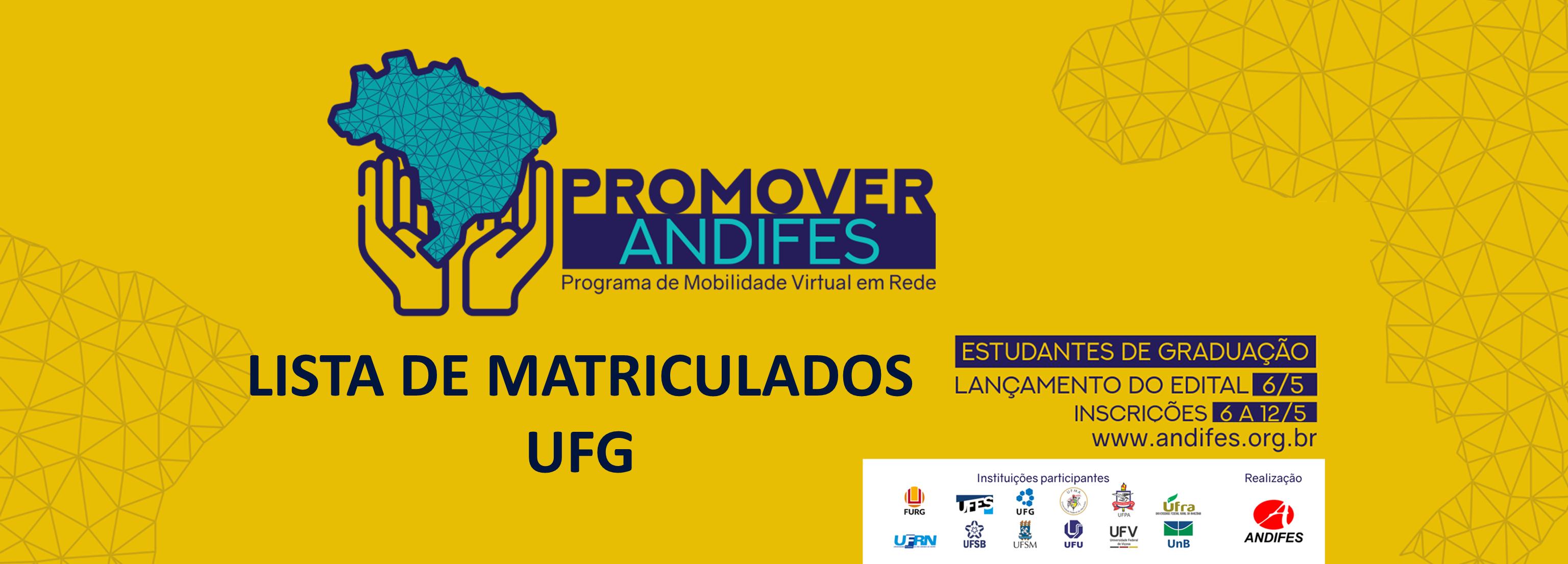 PROMOVER ANDIFES resultados UFG